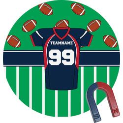 Football Jersey Round Magnet (Personalized)