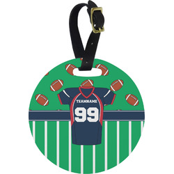 Football Jersey Round Luggage Tag (Personalized)