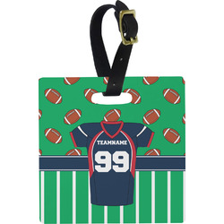 Football Jersey Square Luggage Tag (Personalized)
