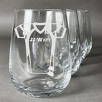 Football Jersey Stemless Wine Glasses (Set of 4) (Personalized)