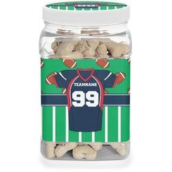 Football Jersey Dog Treat Jar (Personalized)