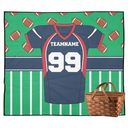 Football Jersey Outdoor Picnic Blanket (Personalized)
