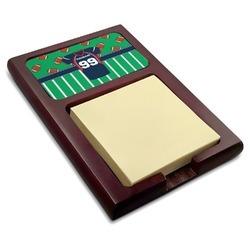 Football Jersey Red Mahogany Sticky Note Holder (Personalized)