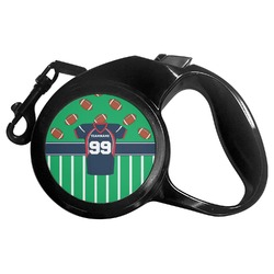 Football Jersey Retractable Dog Leash - Multiple Sizes (Personalized)