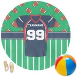 Football Jersey Round Beach Towel (Personalized)