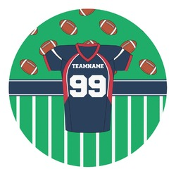 Football Jersey Round Decal (Personalized)