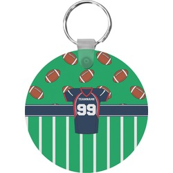 Football Jersey Round Keychain (Personalized)