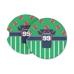 Football Jersey Sandstone Car Coasters (Personalized)
