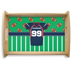 Football Jersey Natural Wooden Tray (Personalized)