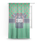 Football Jersey Sheer Curtains (Personalized)