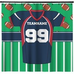 Football Jersey Shower Curtain (Personalized)