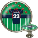 Football Jersey Cabinet Knob (Silver) (Personalized)