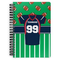 Football Jersey Spiral Bound Notebook (Personalized)