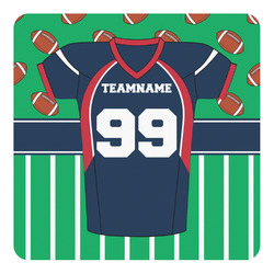 Football Jersey Square Decal (Personalized)