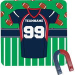 Football Jersey Square Fridge Magnet (Personalized)