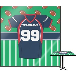 "Football Jersey Square Table Top - 30"" (Personalized)"