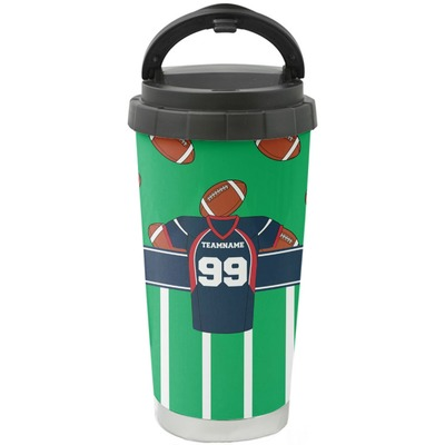 Football Jersey Stainless Steel Travel Mug (Personalized)