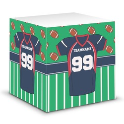 Football Jersey Sticky Note Cube (Personalized)
