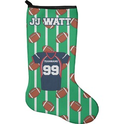 Football Jersey Christmas Stocking - Neoprene (Personalized)