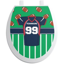 Football Jersey Toilet Seat Decal (Personalized)