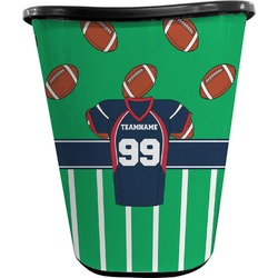Football Jersey Waste Basket - Double Sided (Black) (Personalized)