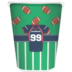 Football Jersey Waste Basket - Double Sided (White) (Personalized)