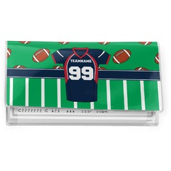 Football Jersey Vinyl Check Book Cover (Personalized)