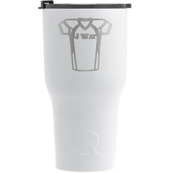 Football Jersey RTIC Tumbler - White (Personalized)