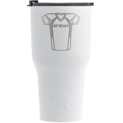 Football Jersey RTIC Tumbler - White - Engraved Front (Personalized)