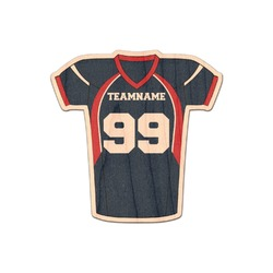 Football Jersey Genuine Wood Sticker (Personalized)