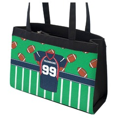 Football Jersey Zippered Everyday Tote (Personalized)
