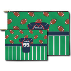Football Jersey Zipper Pouch (Personalized)
