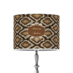 """Snake Skin 8"""" Drum Lamp Shade - Poly-film (Personalized)"""