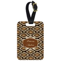 Snake Skin Metal Luggage Tag w/ Name or Text