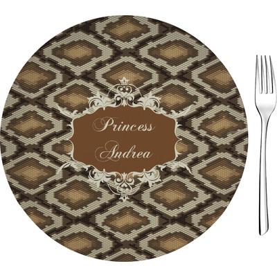 "Snake Skin 8"" Glass Appetizer / Dessert Plates - Single or Set (Personalized)"