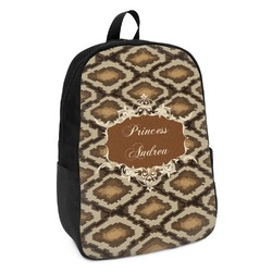Snake Skin Kids Backpack (Personalized)