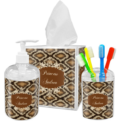 Snake Skin Bathroom Accessories Set (Personalized)