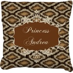 Snake Skin Faux-Linen Throw Pillow (Personalized)