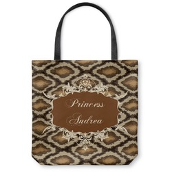 Snake Skin Canvas Tote Bag (Personalized)