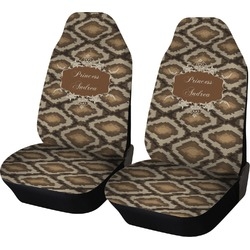 Snake Skin Car Seat Covers (Set of Two) (Personalized)