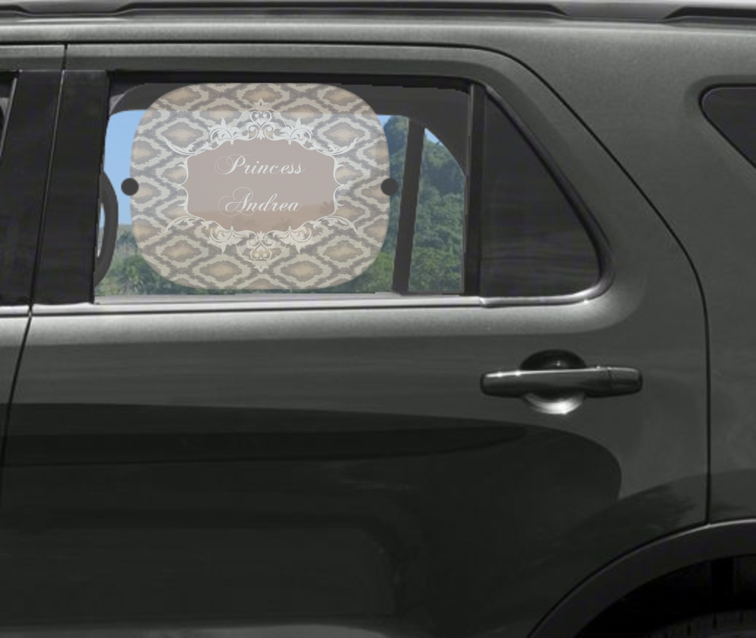 snake skin car side window sun shade personalized youcustomizeit. Black Bedroom Furniture Sets. Home Design Ideas