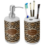 Snake Skin Bathroom Accessories Set (Ceramic) (Personalized)