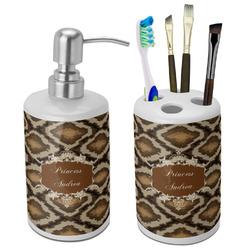 Snake Skin Bathroom Accessories Set (Ceramic) (Personalized)