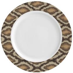 Snake Skin Ceramic Dinner Plates (Set of 4) (Personalized)