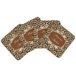 Snake Skin Cork Coaster - Set of 4 w/ Name or Text