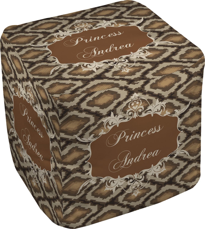 snake skin cube pouf ottoman 13 personalized. Black Bedroom Furniture Sets. Home Design Ideas