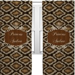 Snake Skin Curtains (2 Panels Per Set) (Personalized)