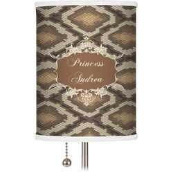 Snake Skin Drum Lamp Shade (Personalized)