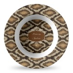Snake Skin Plastic Bowl - Microwave Safe - Composite Polymer (Personalized)