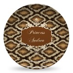 Snake Skin Microwave Safe Plastic Plate - Composite Polymer (Personalized)